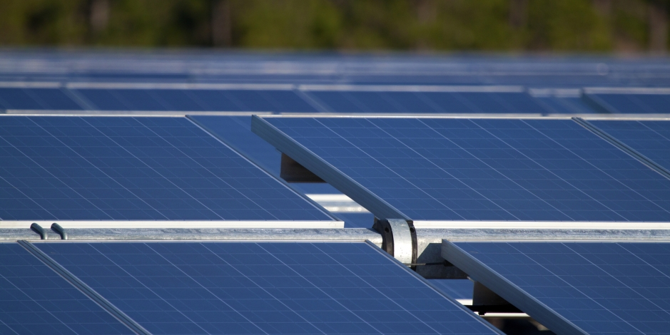 Closeup of Solar Panels Outdoors (Picture Taken in Florida)